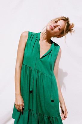 Maeve Shira Tiered Tunic By in Green Size S