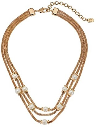 Lauren Ralph Lauren 16 Mesh Multirow Necklace (Gold) Necklace