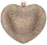Nina Amorie Crystal Embellished Heart Minaudiere Clutch