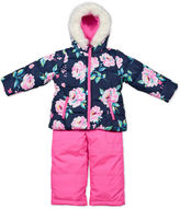 Carter's Pink Floral Long-Sleeve Coat - Toddler Girls 2t-5t