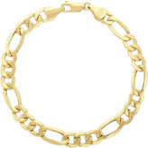 JCPenney FINE JEWELRY Made in Italy 14K Yellow Gold Hollow Figaro Chain Bracelet