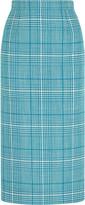 Miu Miu Checked wool pencil skirt