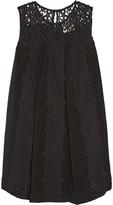 Sea Broderie anglaise-paneled cotton mini dress