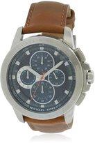 Michael Kors Men's Leather Band Steel Case Quartz Dial Watch Mk8518