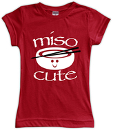 Urban Smalls Red 'Miso Cute' Fitted Tee - Toddler & Girls