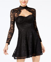 Material Girl Juniors' Lace Choker Dress, Created for Macy's