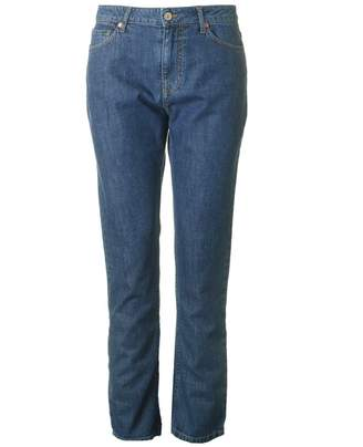 Paul Smith Ps Mid Rise Girlfriend Jeans Colour: BLUE, Size: 28R