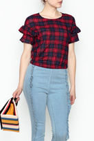 Lush Plaid Crop Top