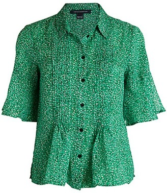 French Connection Alving Lawn Peplum Shirt
