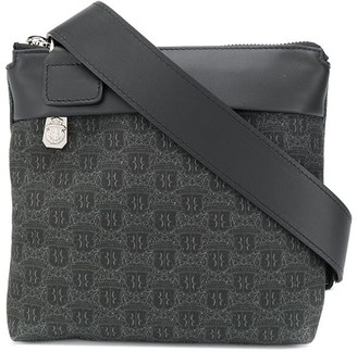 Billionaire Monogram Print Messenger Bag