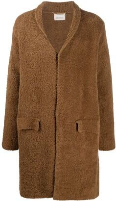 Laneus Snap-Fastening Shawl-Lapel Coat