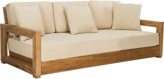 Safavieh Couture Montford Teak 3-Seat Sofa