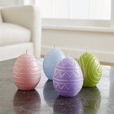 Crate & Barrel Egg Candles Set of Four