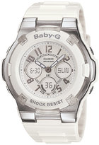 Baby-G Women's White Resin Strap Watch BGA110-7B