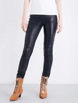 Loewe Skinny high-rise leather trousers
