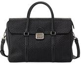 Ermenegildo Zegna Pelle Tessuta Woven Leather Briefcase