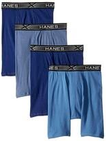Hanes 4-Pack Xtemp Long Leg Boxer Briefs (Assorted Blues) Men's Underwear