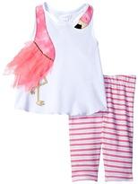 Mud Pie Flamingo Short Set Girl's Active Sets