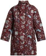 Diane von Furstenberg Canton-print stand-collar shell coat