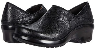 Ariat Hera Expert Clog (Tooled Black) Women's Clog Shoes