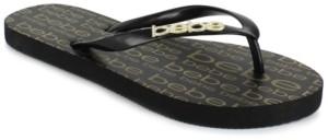 Bebe Women's Samirah Logo Flip Flops Women's Shoes