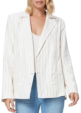 Paige Rosette Metallic Stripe Blazer
