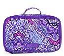 Vera Bradley Blush & Brush Makeup Case in Lilac Tapestry