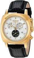 Versus By Versace Men's SOI050015 RIVERDALE Analog Display Quartz Black Watch