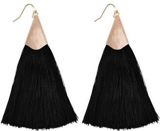 Riah Fashion Large Tassel Earrings