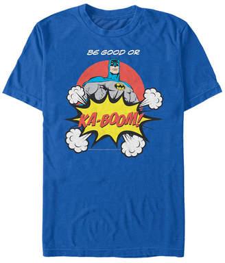 Fifth Sun Dc Men Batman Be Good or Ka-Boom Comic Text Short Sleeve T-Shirt
