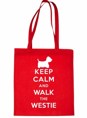 Print4u Shopping Tote Bag For Life Keep Calm & Walk Westie Natural