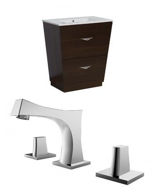 "American Imaginations Vee 21"" Single Bathroom Vanity Set"