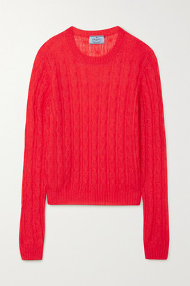 Prada Cable-knit Sweater - Red