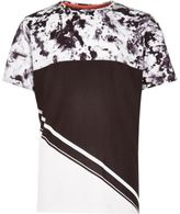 River Island Boys white block panel t-shirt