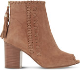 Dune Primrose suede peep-toe ankle boots