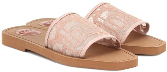Chloé Exclusive to Mytheresa Woody lace-trimmed slides