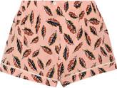 Araks Tia printed silk crepe de chine pajama shorts