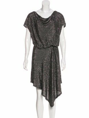 Gucci Embellished Midi Dress Silver