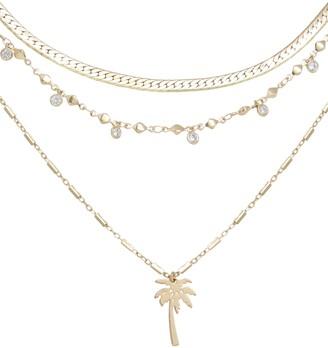 Ettika Palm Pendant Multistrand Necklace