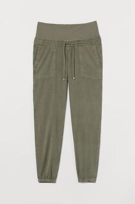 H&M MAMA Lyocell-blend Joggers - Green