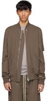 Rick Owens Grey Raglan Bomber Jacket