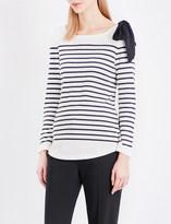 Claudie Pierlot Trocadero striped jersey top