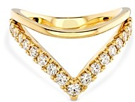 Hayley Paige for Hearts on Fire 18K Yellow Gold Harley Silhoutte Power Band with Diamonds & Pink Sapphire