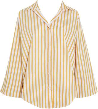 Faithfull The Brand Rylen Martie Striped Cotton Poplin Button-Up Shirt