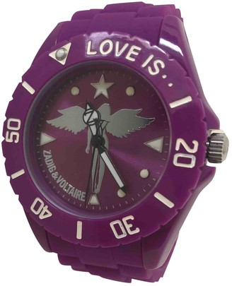 Zadig & Voltaire Purple Rubber Watches