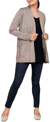 Blue Illusion Basic Longline Cardigan