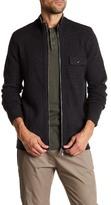 Autumn Cashmere Leather Elbow Patch Zip-Up Jacket