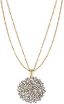 Kenneth Cole New York Necklace, Gold-Tone Cherry Bead Circle Pendant