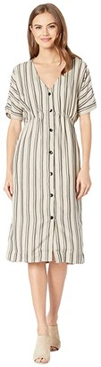 RVCA Smith Woven Midi Dress (Oatmeal) Women's Dress
