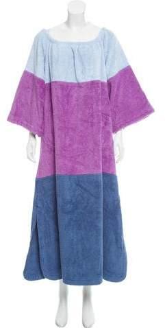 Lisa Marie Fernandez Off-The-Shoulder Terry Cloth Dress